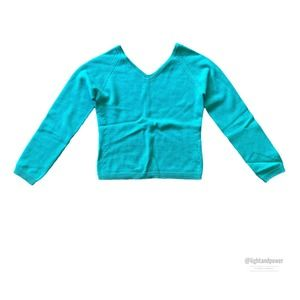 Les Copains Aqua Wool V-NeckItalian Size 40EUC